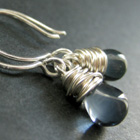 Silver Plated Wire Wrapped Earrings